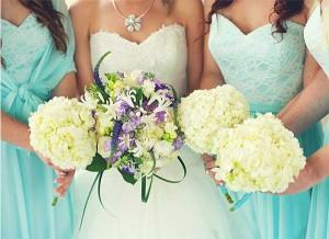 Lake Erie Weddings bride and bridesmades