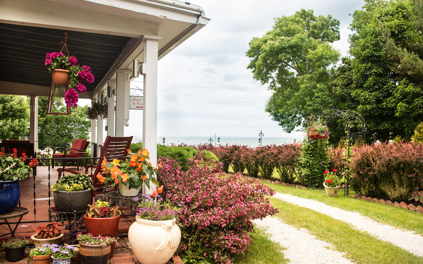 Porch on a Lake Erie Bed and Breakfast in NY