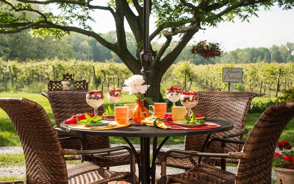 Breakfast Outdoor in our Chautauqua B&B